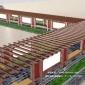 长廊CAD效果图纸 廊架设计 长廊定制生产 沐岚木业