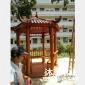 防腐木凉亭一个 六角亭造价 亭子设计 沐岚木业